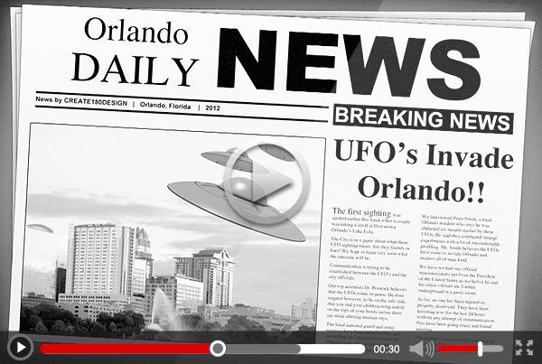 "Create 180 Design ""UFO"" 15 sec Marketing Video"